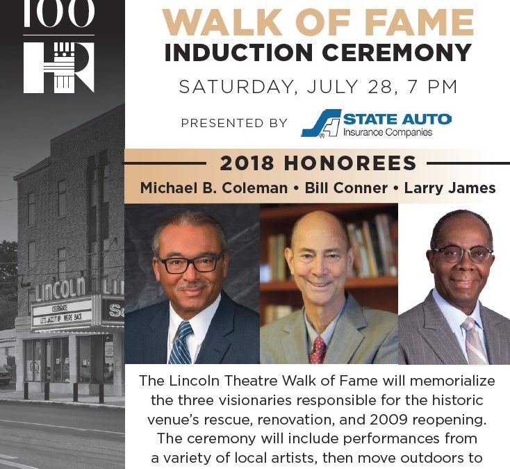 Lincoln Theatre Walk of Fame Inducts Larry H. James
