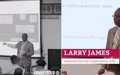 Larry H. James Addresses The Ohio State University Football Players, Coaches, and Staff as Part of the Real Life Wednesday Program
